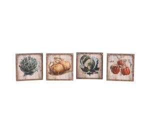 Set de 4 cuadros Légumes