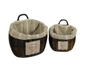 Set de 2 cestas de mimbre