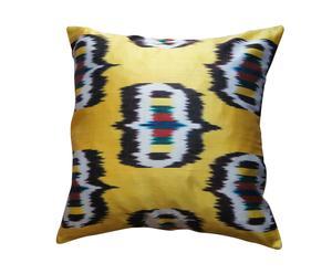 Cojín cuadrado de seda, amarillo – 40x40