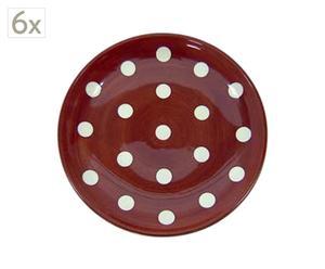 Set de 6 platos marrón – Ø22