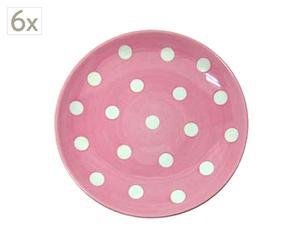 Set de 6 platos rosa – Ø22
