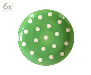 Set de 6 platos verde – Ø22