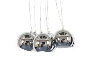 Lámpara de techo con 7 bolas de acero – Plata