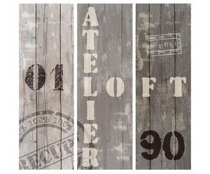 Set de 3 lienzos Atelier – 30x90