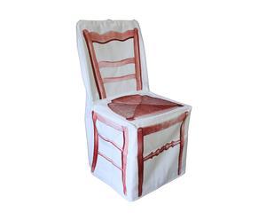 Funda de silla de paja – Rojo