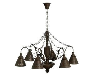 Lámpara de techo en hierro forjado