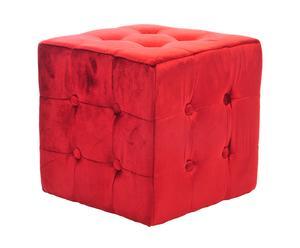 Puf de terciopelo - Rojo