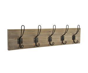Perchero de madera con 5 ganchos - Abeto