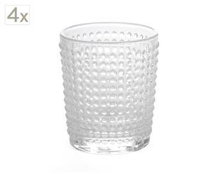 Set de 4 vasos de agua Perle