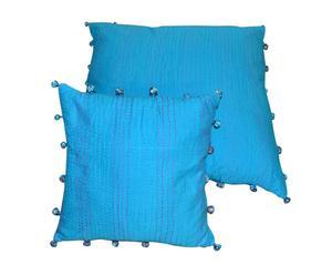 Funda de cojín Boules, Azul claro – 40x40