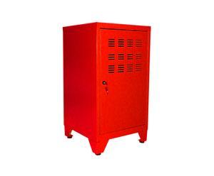 Armario con puerta de metal rojo - H75