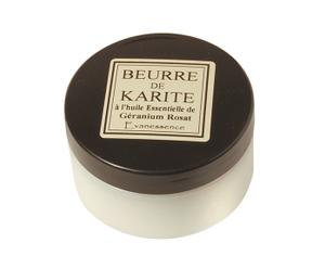 Manteca de karité con aceites esenciales de geranio - 100g