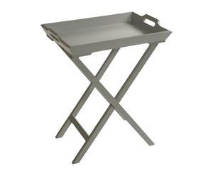 Mesa plegable con bandeja - gris