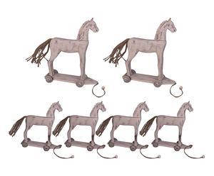 Set de 6 caballos con ruedas