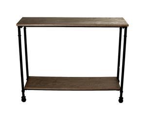 Consola de metal y madera