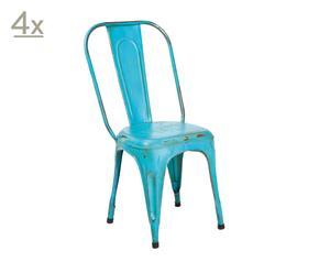 Set de 4 sillas Aix – turquesa