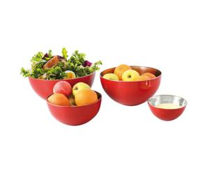 Set de 4 ensaladeras – Rojo