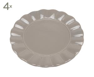 Set de 4 platos de cerámica - gris