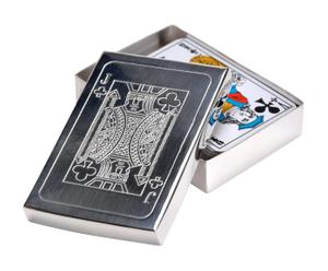 Caja para baraja de cartas - plata