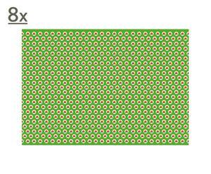 Set de 8 manteles individuales Coquelicots – 44x31