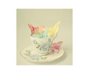 Lienzo Taza con mariposas – 30x30