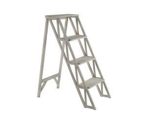 Escalera para plantas de madera, gris