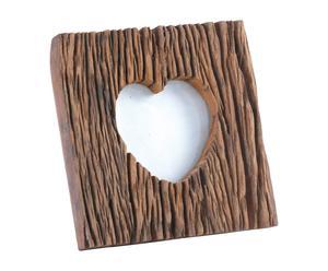 Portafotos de madera Corazón - natural