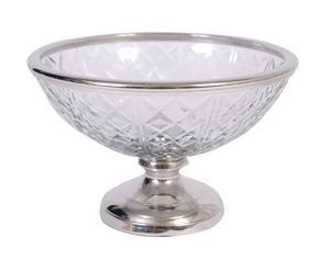 Copa con pie de acero inoxidable y cristal - Ø20