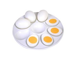Plato de porcelana para huevos