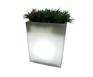 Jardinera luminosa - blanca
