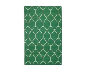 Alfombra arabesque, verde y blanco – 152x244