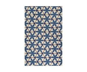 Alfombra Ebony, azul y blanco – 152x244