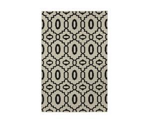 Alfombra Moor, blanco y negro – 152x244
