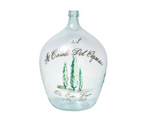 Recipiente contenedor de aceite de oliva en vidrio - trasparente