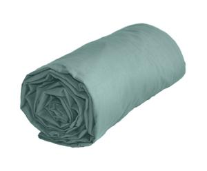 Sábana bajera ajustable de algodón, verde aguamarina - 180x200