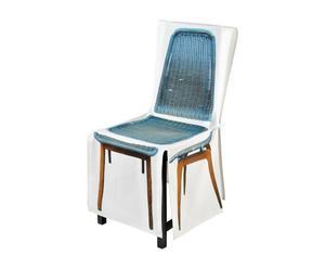 Funda silla trenzada - azul