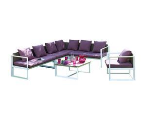 Salón de 6 plazas de aluminio Melia – lila