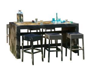 Set de mesa de bar con 6 taburetes de exterior Cuba
