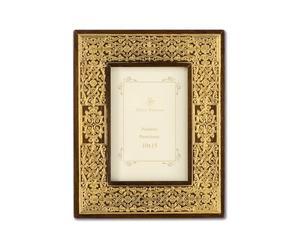 Marco de fotos de madera, dorado - 17 * 21
