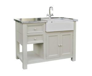 Mueble de cocina de madera – crema