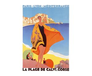 Poster La plage de Calvi