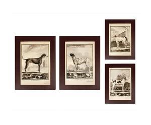 Set de 4 lienzos Setter