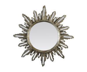 Espejo en resina Soleil - plata