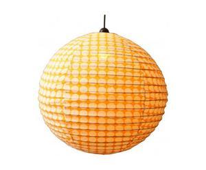 Lámpara de techo de algodón - naranja y crema
