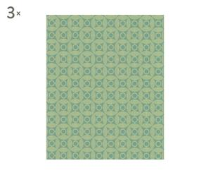 Set de 3 rollos de papel pintado Sun&Moon - verde