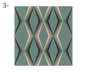 Set de 3 rollos de papel Vintage Deco - verde