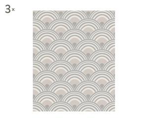 Set de 3 rollos de papel Vintage Deco – gris topo
