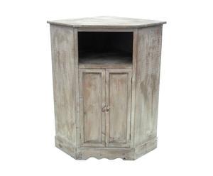 Mueble esquinero de madera - natural