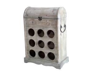 Cofre-botellero de madera - natural