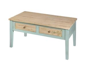 Mesa de centro de madera - gris y natural